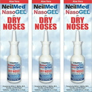 3 Pack - NeilMed NasoGEL For Dry Noses, Drip Free Gel Spray 1 fl oz Bottle Each