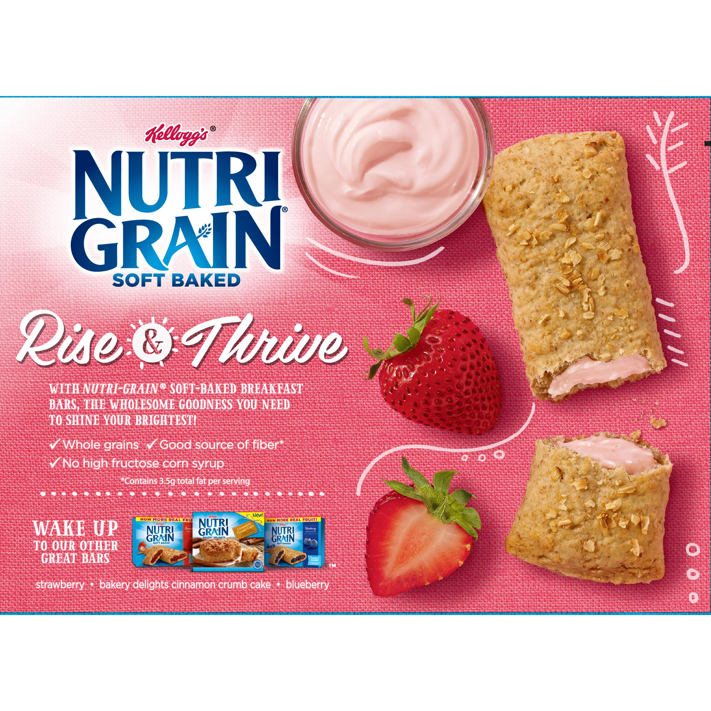 Nutrigrain soft baked breakfast bars 8ct millville cereal bars nutrigrain bars cereal bars - Strawberry themed kitchen decor ...