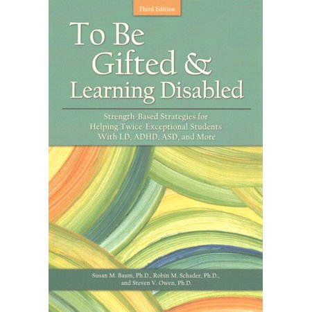 When Is Student Gifted Or Disabled New >> To Be Gifted And Learning Disabled