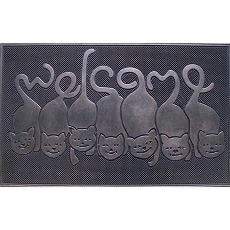 A1HC Rubber Grill Cat Tail Welcome Doormat - 18