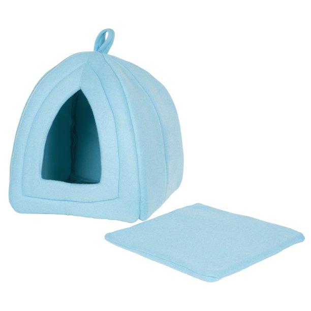 Petmaker Igloo Pet Cat Bed, Blue - Walmart.com - Walmart.com