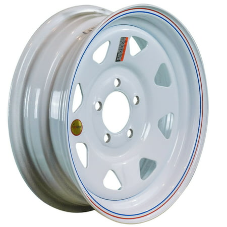 Rib Wheel - ArcWheel White Spoke Steel Trailer Wheel - 15