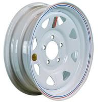 "ArcWheel White Spoke Steel Trailer Wheel - 15"" x 5"" Rim - 5 on 4.5"