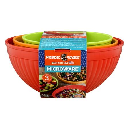 Nordic Ware Prep & Serve Mixing Bowl Set, 3 Piece ()