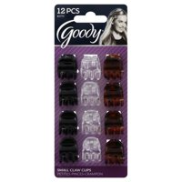 (2 Pack) Goody Small Claw Clips, 12 count