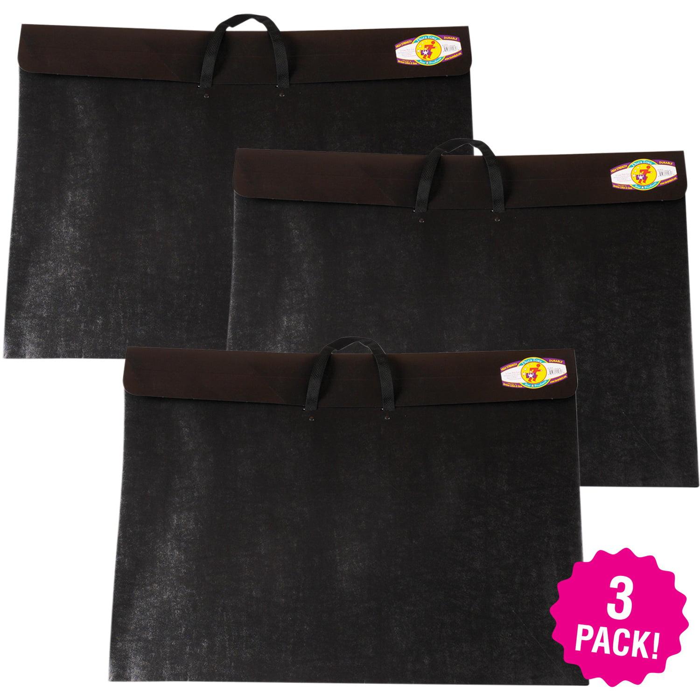 Dura-Tote Classic Black Portfolio, Multipack of 3