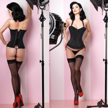 Leg Avenue Natalie Corset with Taffeta Halter Silhouette with Boning & Zipper Front Closure