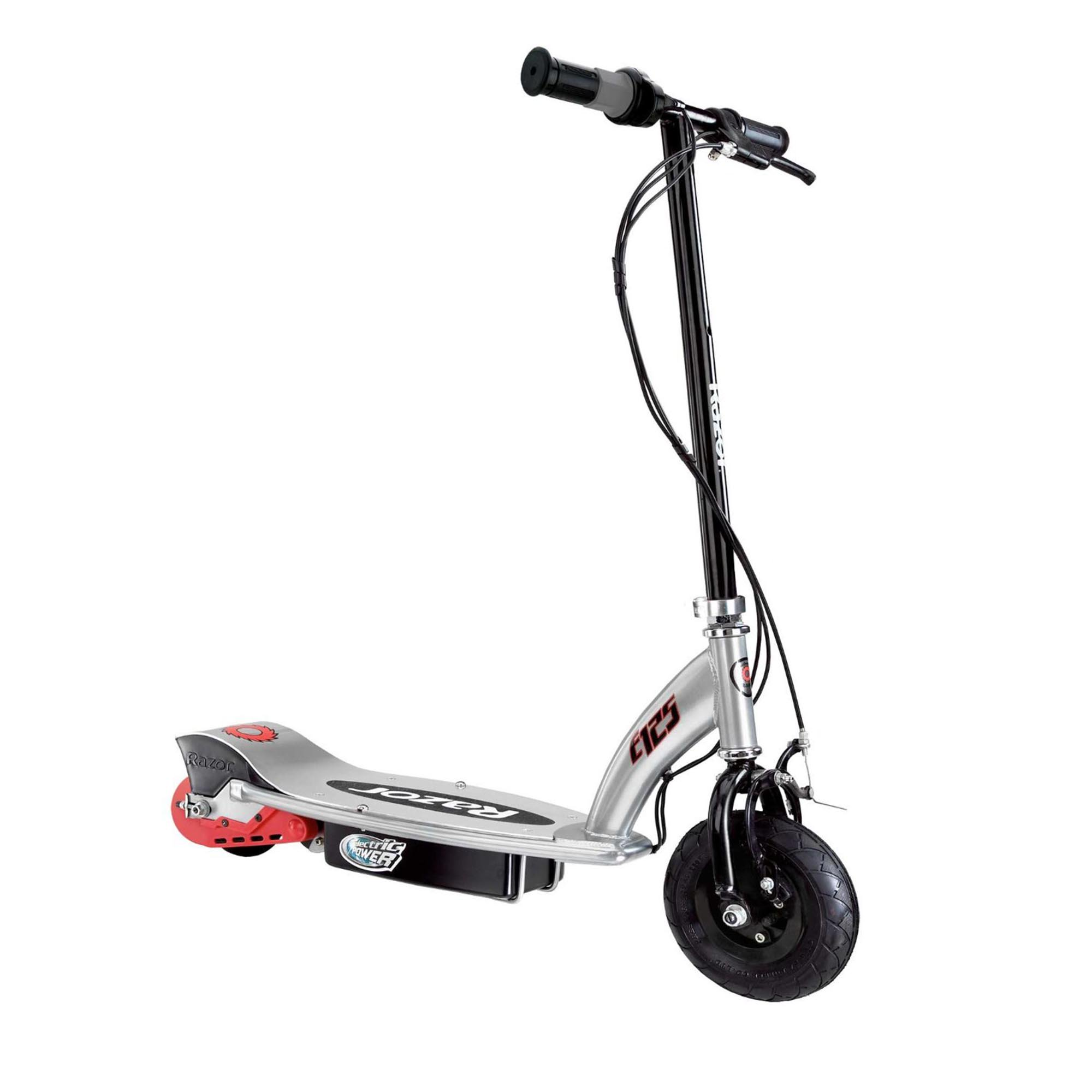 Razor E125 Motorized 24 Volt Rechargeable Battery Kids Electric Scooter, Black by Razor