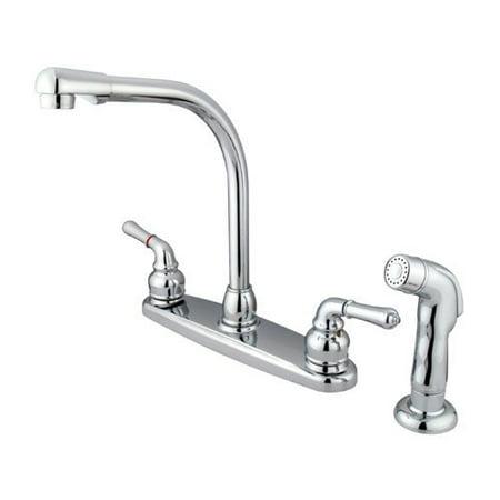 Kingston Brass GKB751SP Water Saving Magellan Centerset Kitchen Faucet with Matching Side Sprayer, Chrome - image 1 de 1