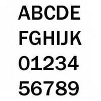 "Bernard 3"" Number ""7"" Black 10-Pack PS30B7"