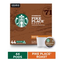 Starbucks Medium Roast K-Cup Coffee Pods  Pike Place Roast for Keurig Brewers  1 box (44 pods)