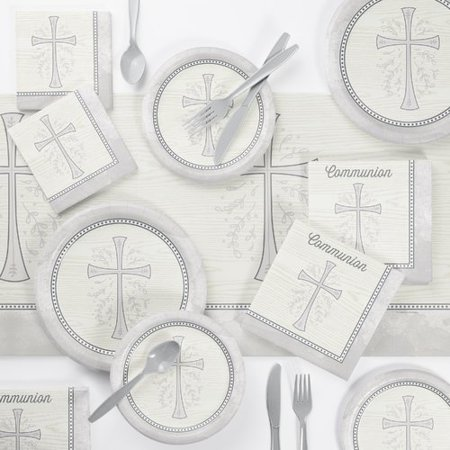 Communion Tableware (The Holiday Aisle Holloman First Communion Paper/Plastic Disposable Party Supplies)