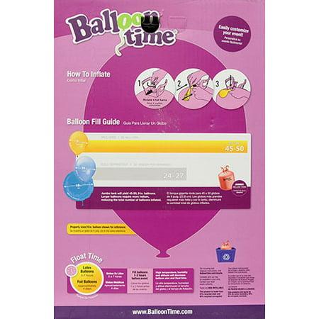 Balloon Time 12in Jumbo Helium Tank Kit, Includes 50