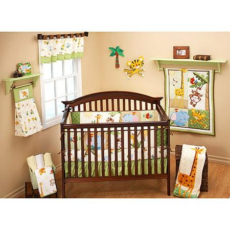Fisher Price Rainforest Friends 4 Piece Crib Bedding Set