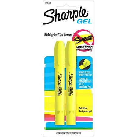 Sharpie Gel Bullet Highlighter, Fluorescent Yellow 2 ea (Pack of 2)