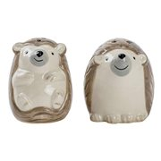 Boston Warehouse Hedgehog Salt and Pepper Shaker Set, 2 Piece, Hand-painted ceramic