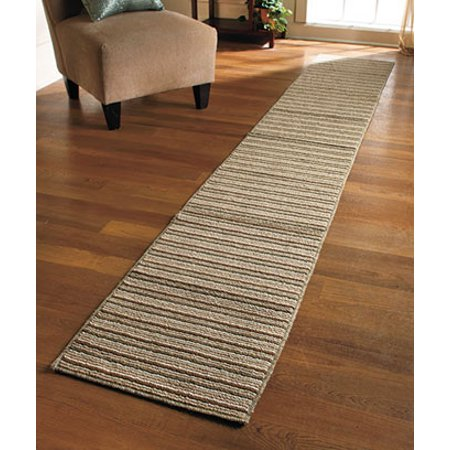 New 20 X 120 Sand Colored Striped Extra Long Nonslip Floor