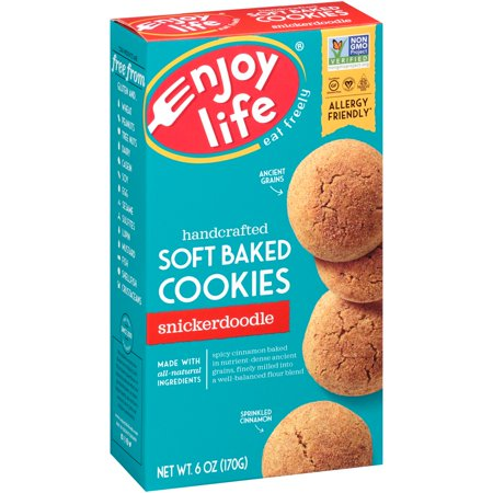 (2 Pack) Enjoy Life Foods Gluten Free, Allergy Friendly Snickerdoodle Soft Baked Cookies, 6 oz