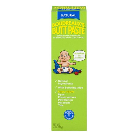 - Boudreaux's Butt Paste Diaper Rash Ointment, Natural, 4 Ounce
