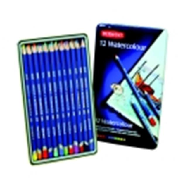 Derwent Highly Pigmented Non-Toxic Water Soluble Watercolor Pencil Set, Set - 24