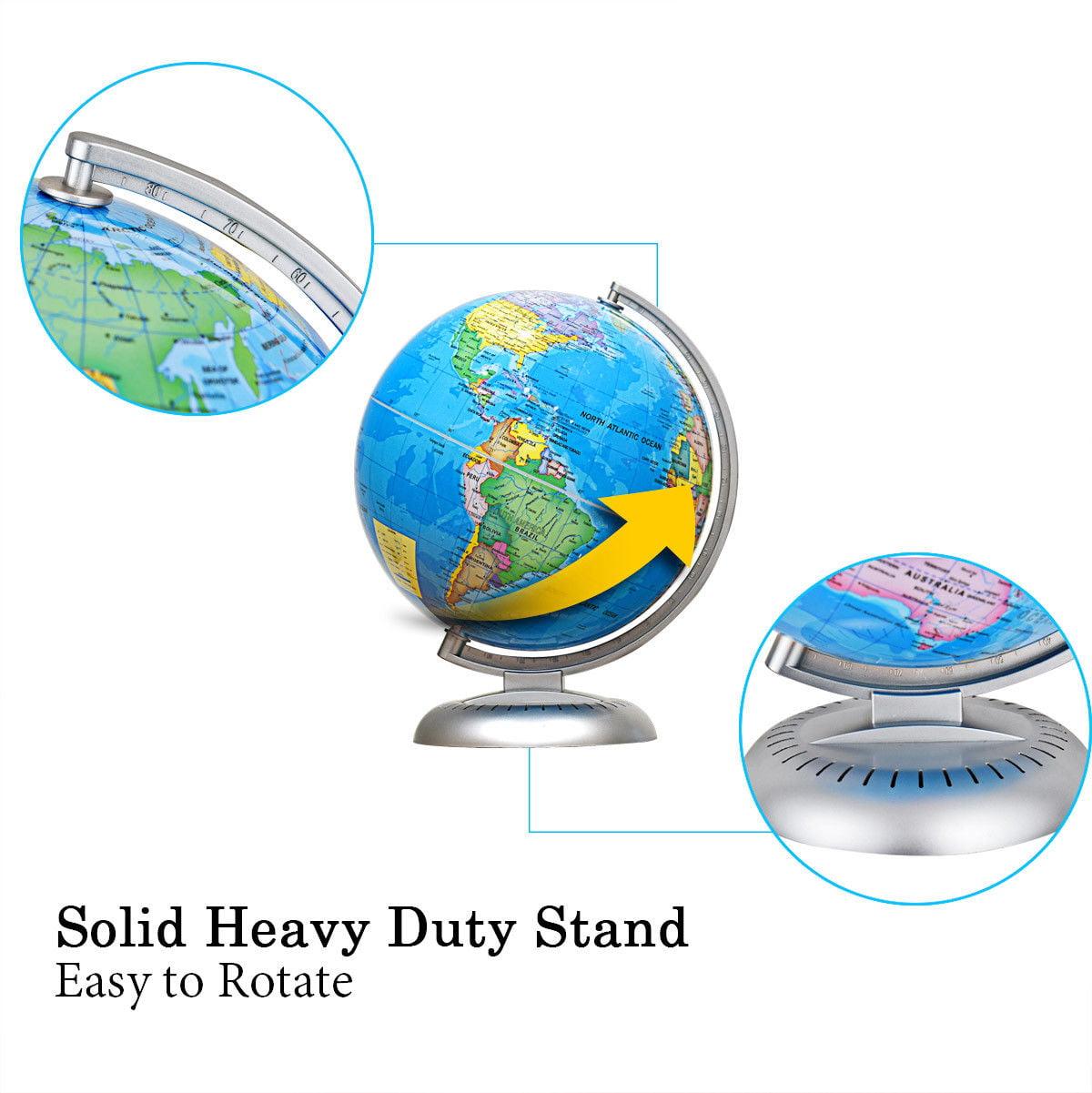 "8/"" Illuminated Up-to-date Built-in LED Night World Globe"