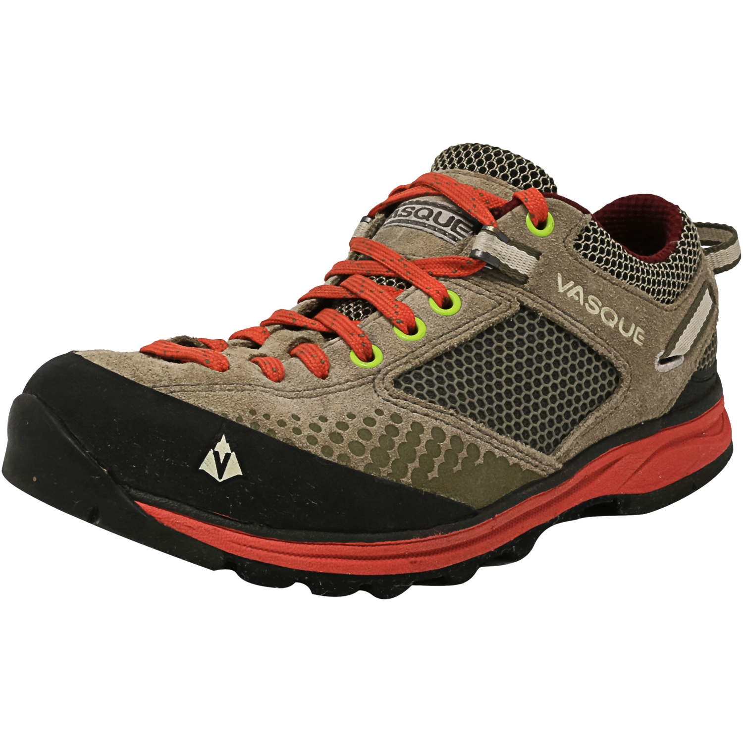 Vasque Women's Grand Traverse Aluminum / Hot Coral Ankle-High Fabric Hiking Shoe - 6.5M