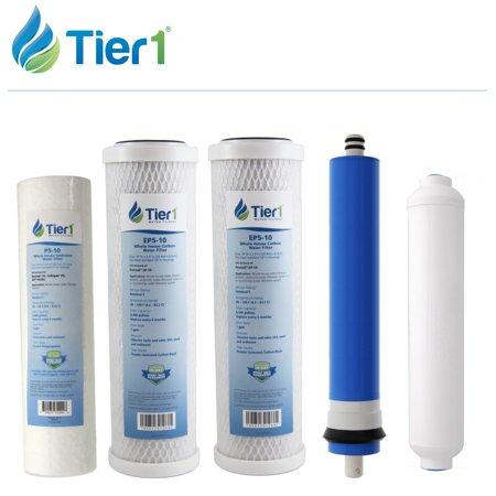 Tier1 5 Stage Reverse Osmosis FULL Replacement Water Filter Kit with 50 GPD - Filter Replacement Kit