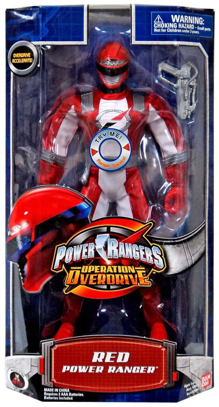 Power Rangers Operation Overdrive Red Power Ranger 12 Inch Action Figure by
