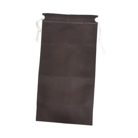 Portable Folding Drawstring Cinch Sack Clothes Storage Bag Coffee Color