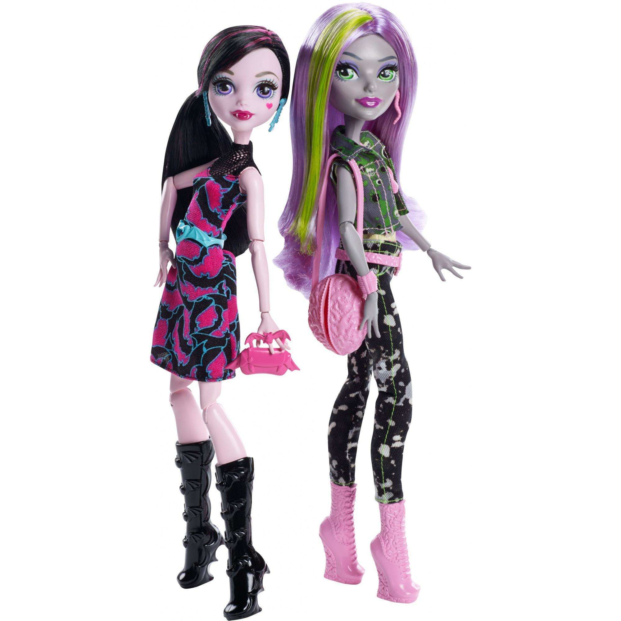 Monster High Welcome to Monster High Monstrous Rivals Draculaura and Moanica Doll 2-Pack