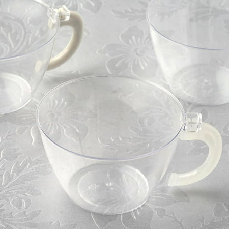 BalsaCircle Clear 12 pcs 6 oz Disposable Plastic Drink Cups Glasses - Wedding Reception Party Buffet Catering (Clear Plastic Frame Glasses)