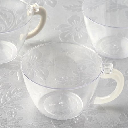 BalsaCircle Clear 12 pcs 6 oz Disposable Plastic Drink Cups Glasses - Wedding Reception Party Buffet Catering Tableware