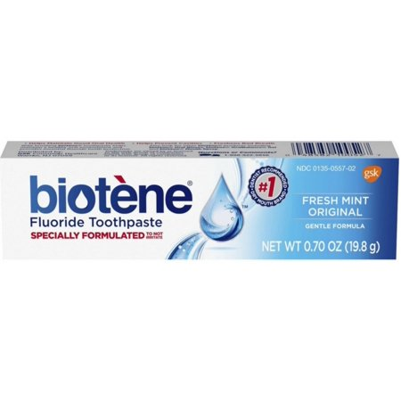 Biotene Dry Mouth Fluoride Toothpaste Fresh Mint, 0.7 oz (Pack of
