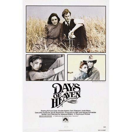 Days Of Heaven Us Poster Top From Left Brooke Adams Sam Shepard Bottom Left Linda Manz Brooke Adams Richard Gere 1978  Paramount Pictures Courtesy Everett Collection Movie Poster