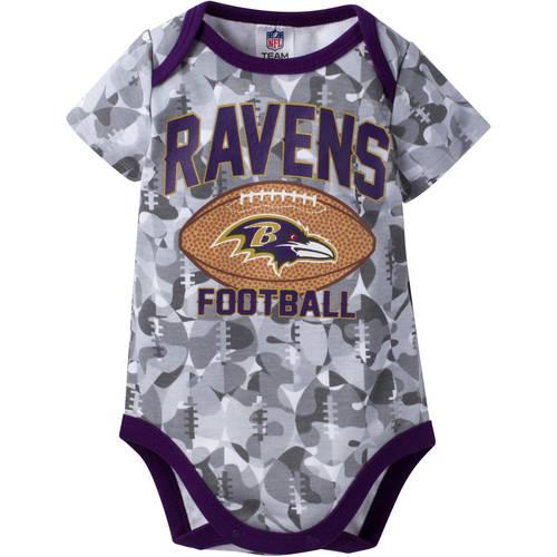 NFL Baltimore Ravens Baby Boys Short Sleeve Camo Bodysuit