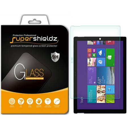 [1-Pack] Supershieldz for Microsoft Surface Pro 3 Tempered Glass Screen Protector, Anti-Scratch, Anti-Fingerprint, Bubble