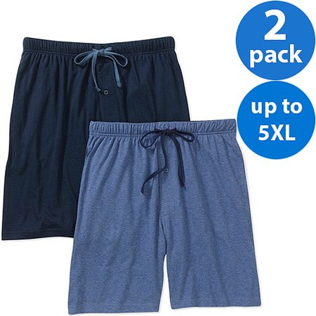 Hanes Mens 2-Pack Knit Sleep Jam Short