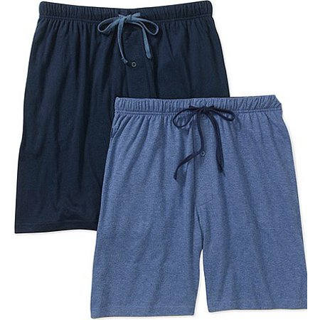 Hanes Mens and Big Mens 2-pack ComfortSoft Jersey Knit Sleep Short