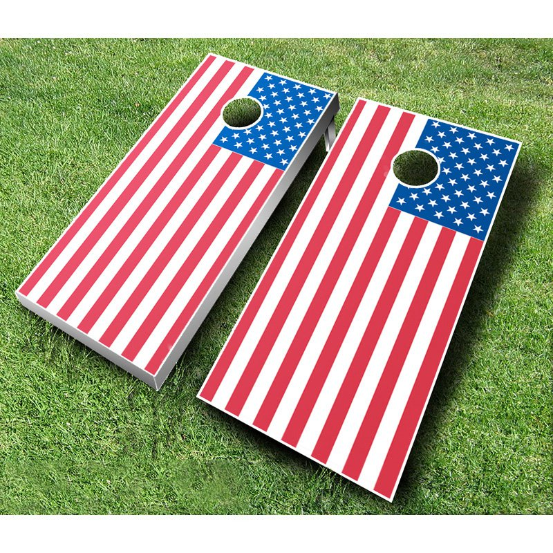 American Flag Tournament Cornhole Set by AJJ Cornhole