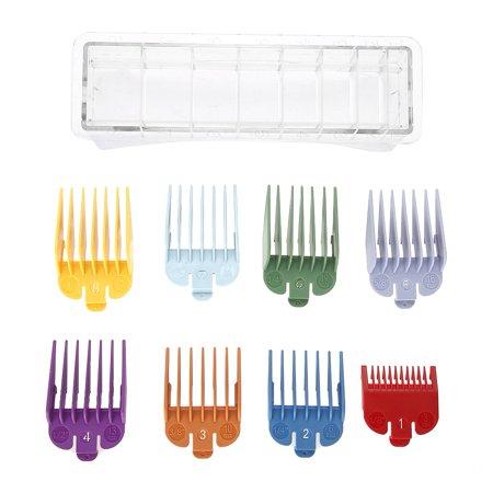 Ejoyous 8 tailles Color Limit Peigne Tondeuse Guide de Coupe de Cheveux Guide de Coupe Attachement, Peigne Taille, Peigne Limite de Cheveux, Peigne Taille - image 5 de 8