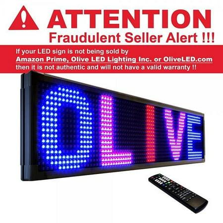 OLIVE LED Sign 3Color RBP, P26, 19