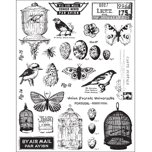 7 Gypsies 474837 Conservatory Clear Stamps 5 inch x 7 inch Sheet-