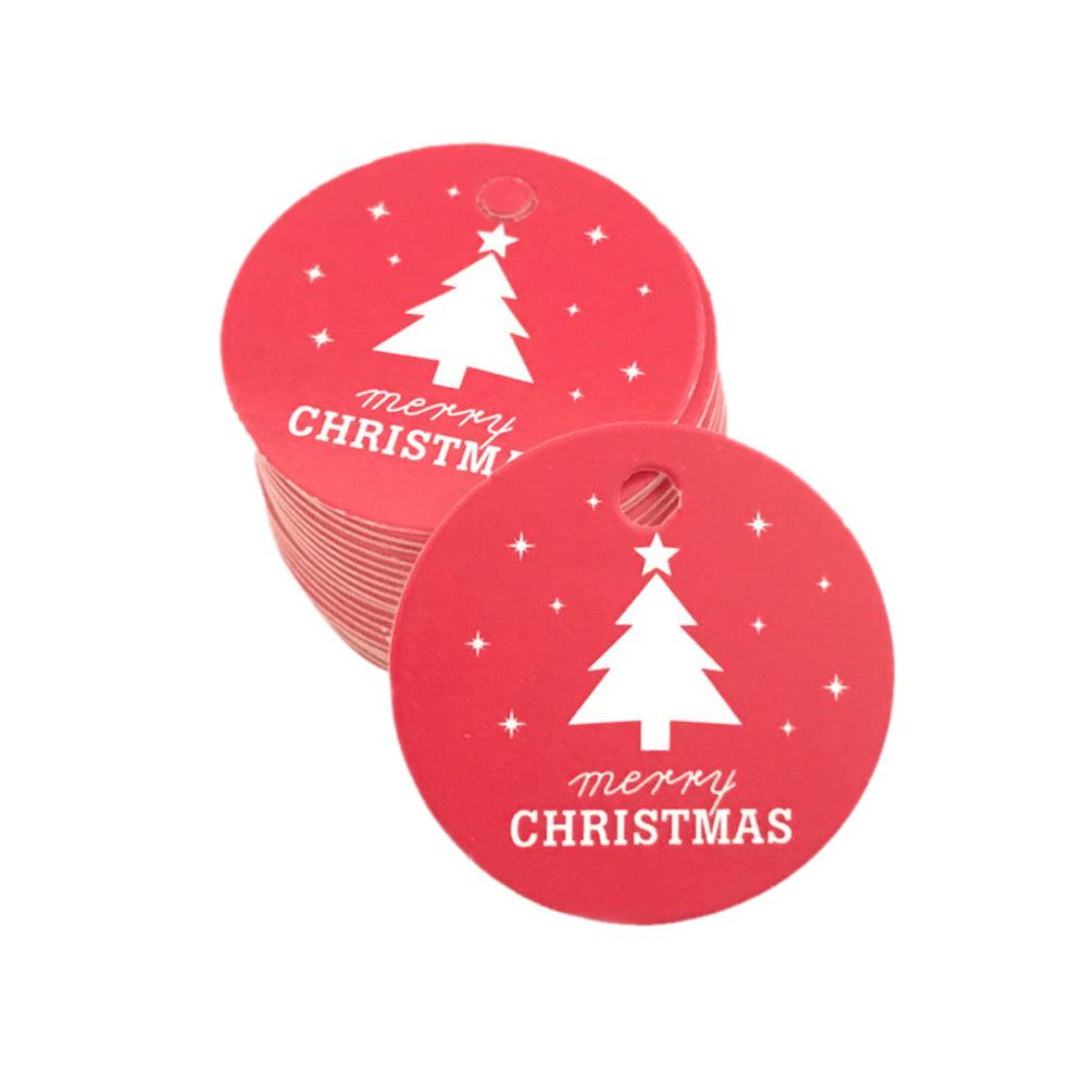 100Pcs Star Santa Claus Christmas Tag Candy Bag Decoration Gift Hang Tags