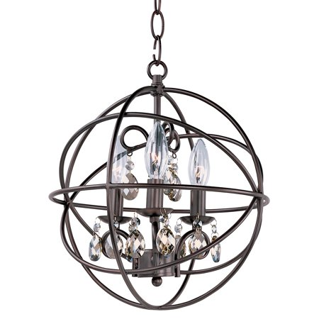- Chandeliers 3 Light Bulb Fixture With Oil Rubbed Bronze Finish Metal Material Candelabra Bulbs 12 inch 180 Watts