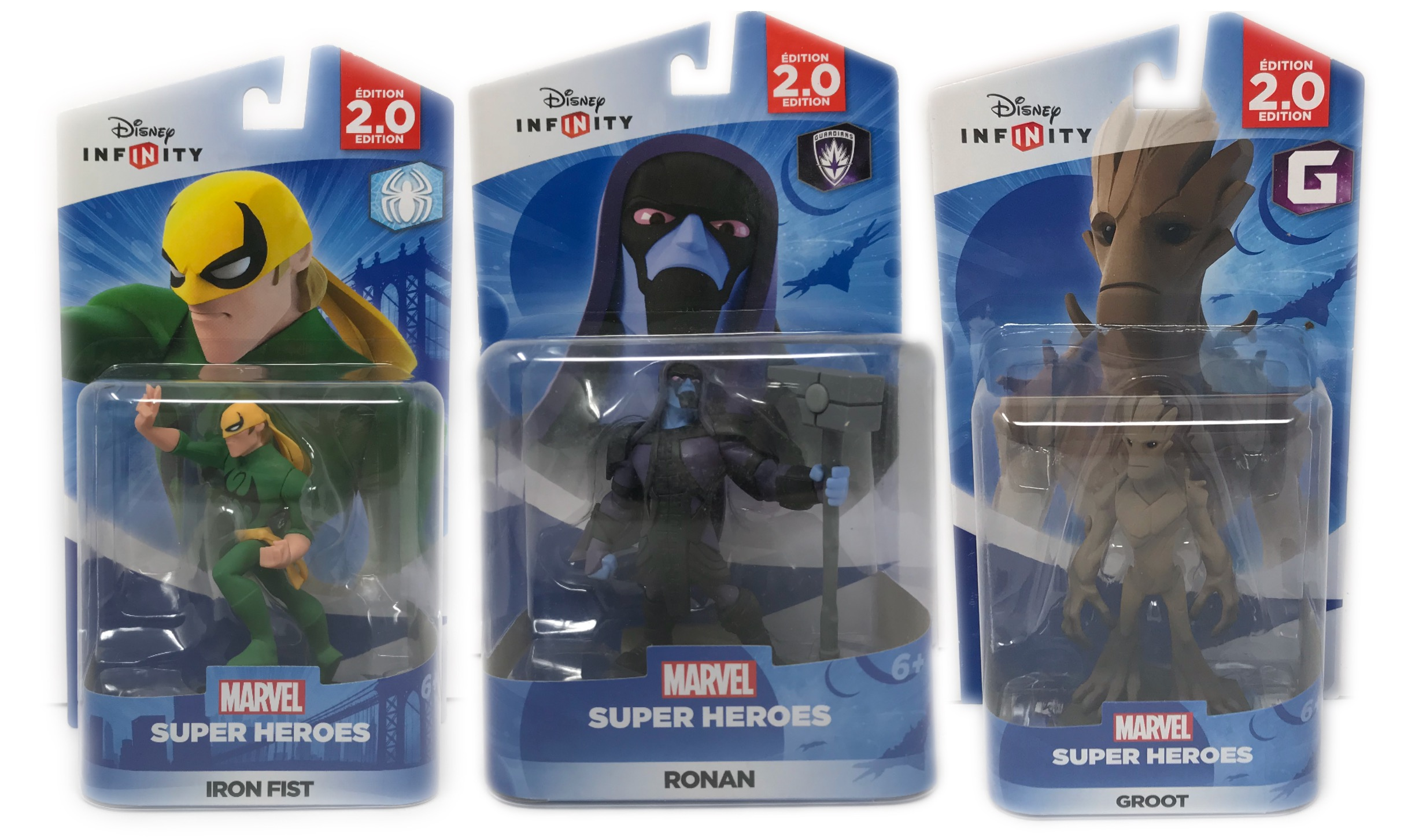 Disney Infinity (2.0 Series) Groot, Ronan & Iron Fist 2.0 Series Guardians Of The Galaxy & Spider-Man Series... by