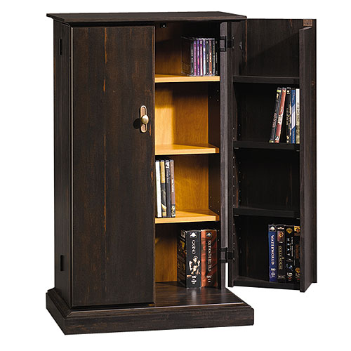 Sauder Multimedia Storage Cabinet, Antiqued Paint