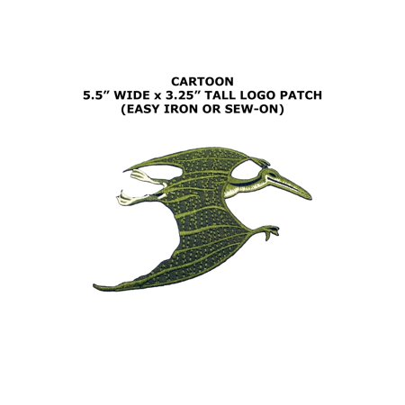 Jurassic Park Pterodactyl Dinosaur Embroidered Iron/Sew-on Kids Adult Theme Logo Patch/Applique By Superheroes