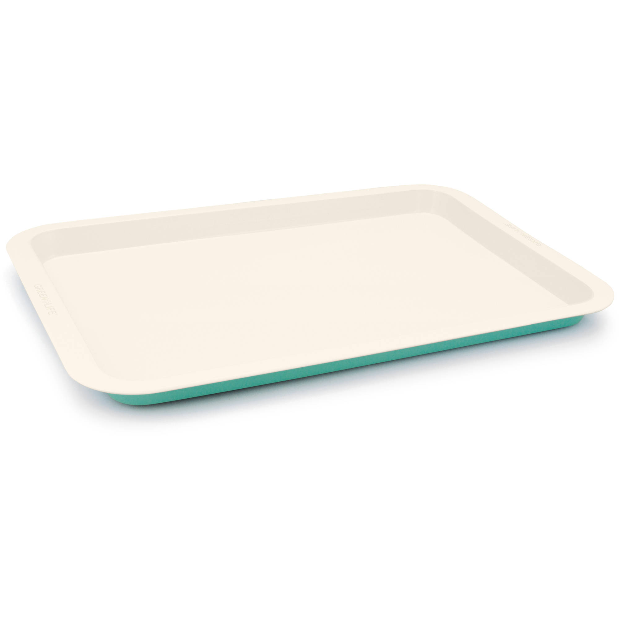 Green Life Absolutely Toxin Free Healthy Ceramic Non Stick Cookie Sheet, Turquoise by Green Life