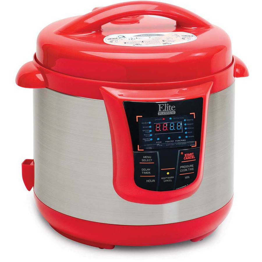 Maxi Matic Elite Platinum 8 qt Electric Pressure Cooker with 13 Functions, Stainless Steel/Black