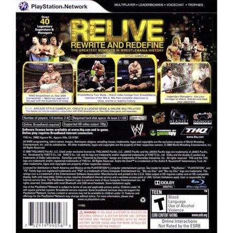 Wwe Legends Of Wrestlemania Playstation 3 Walmart Com Walmart Com